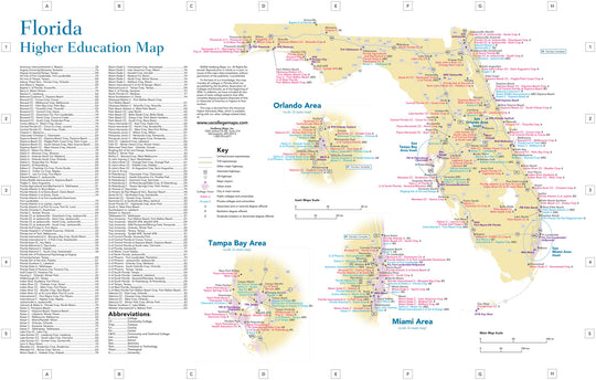 Florida Colleges Map.United States Regions And City Maps Tagged Reference Hedberg Maps