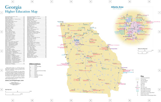 Colleges & Universities – Hedberg Maps