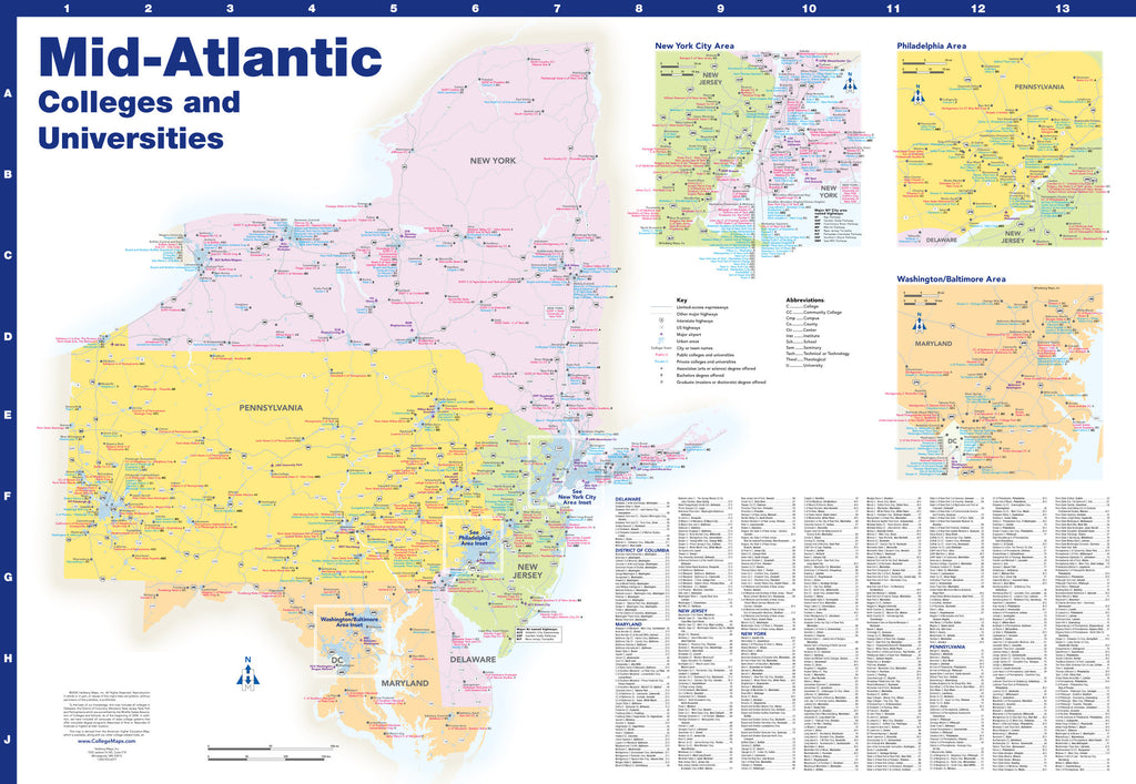 Mid-Atlantic Colleges and Universities