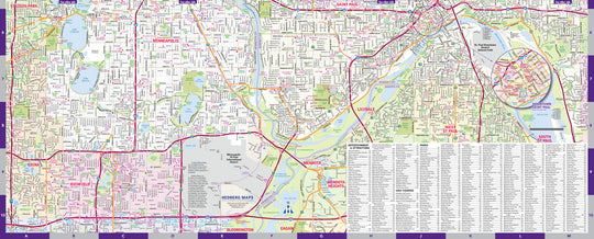 Minneapolis and Saint Paul Street Map