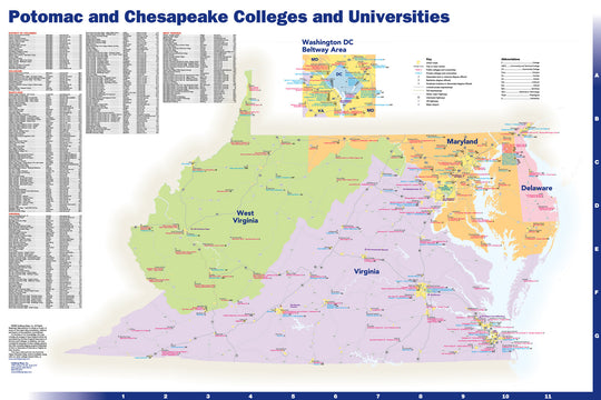 Potomac and Chesapeake Colleges and Universities