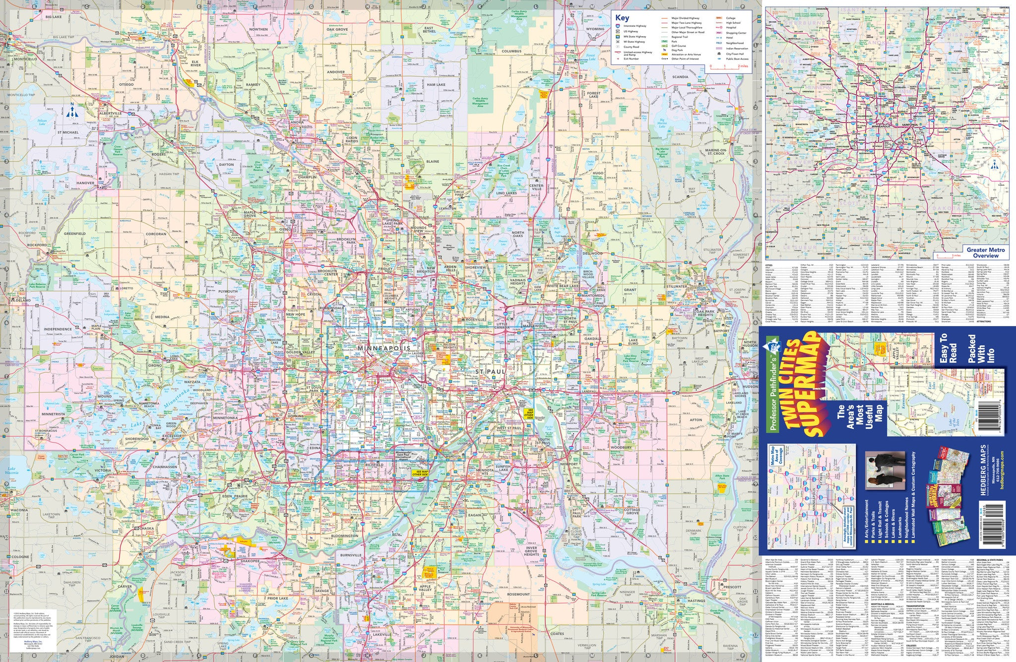 Twin Cities Maps – Hedberg Maps