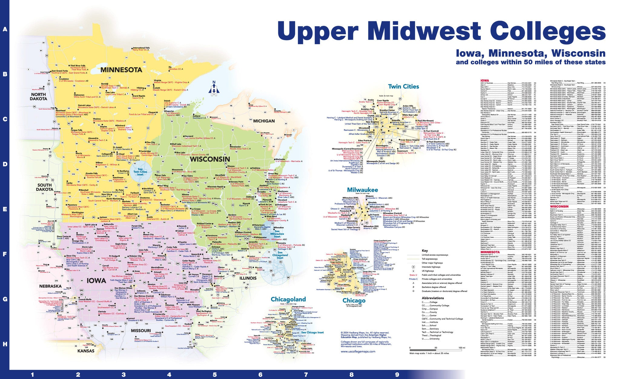 upper midwest road map images