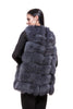Dark grey fur vest