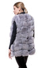 Light grey fur vest