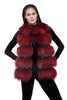 Real raccoon red fur vest