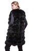 Black long fur vest