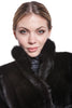 Mink black coat