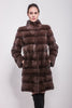 Detachable brown mink coat