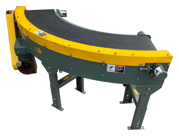 Used Hytrol Power Belt Curve Conveyor
