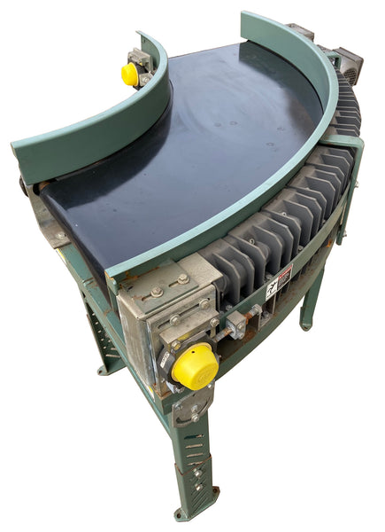 Used Heavy Duty Transnorm Power Belt Curve Conveyor