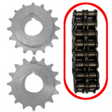 Shaft Coupling Steel Chain for Lineshaft Conveyor