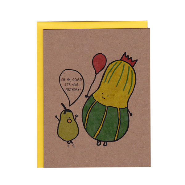 Oh my Gourd it's your Birthday Card