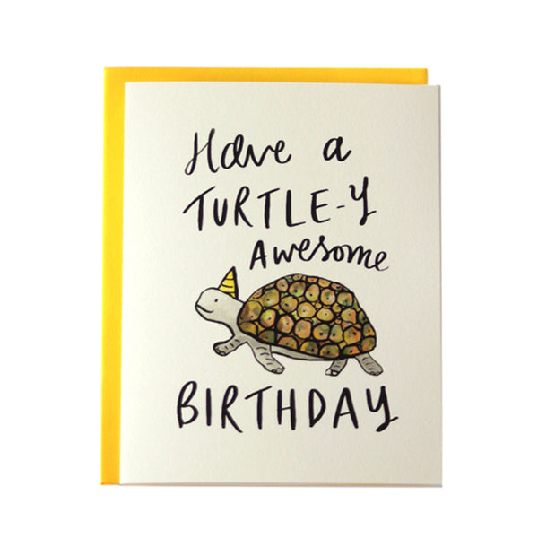 A Turtley Awesome Birthday Card