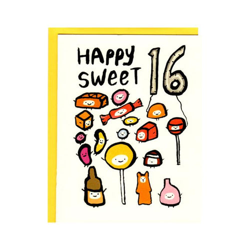 Happy Sweet 16 Birthday Card
