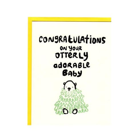 Congratulations on your Otterly Adorable Baby