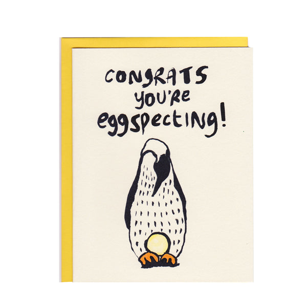 Congratulations You're Eggspecting Greeting Card