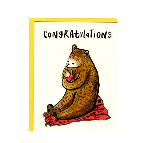 Congratulations Bear Baby Card