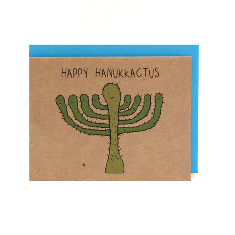 Happy Hannukactus Hanukkah Card