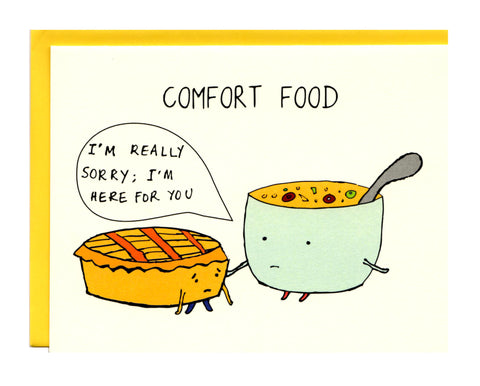 Comfort Food Greeting Card