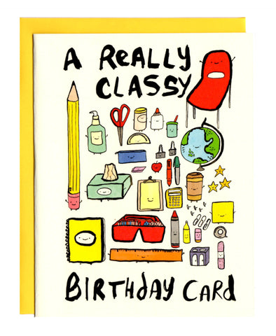 A Really Classy Birthday Card