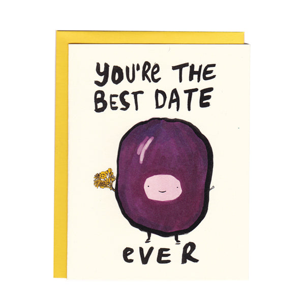 "Girlfriend/ Boyfriend/Anniversary ""Best Date Ever"" Greeting Card"