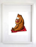 Nursery Mama/Papa Bear Art Print, Wall art, Wall Decor (unframed)
