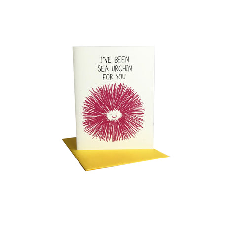 I've been Sea Urchin for You Greeting Card