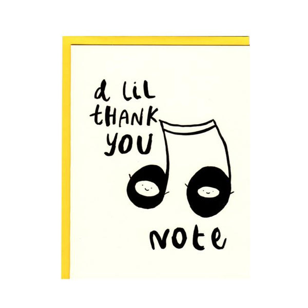 A lil thank you note Greeting Card
