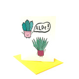 Aloe Hello Greeting Card