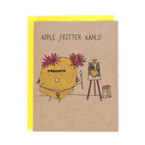 Apple Fritter Kahlo Greeting Card