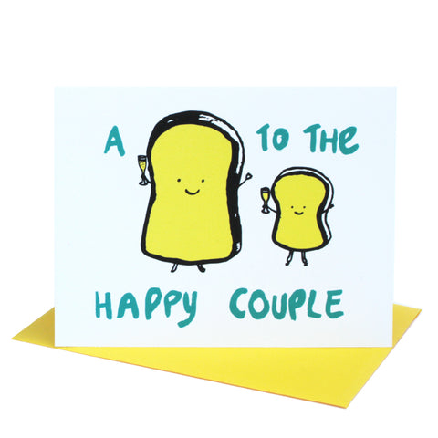 A Toast to the Happy Couple Wedding Greeting Card