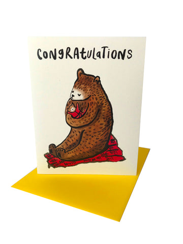 Bear Congrats Greeting Card
