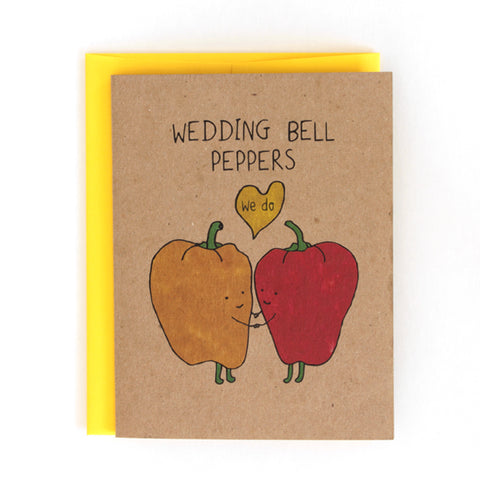 Wedding Bell Peppers Greeting Card