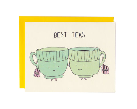 Best Teas Friends Greeting Card