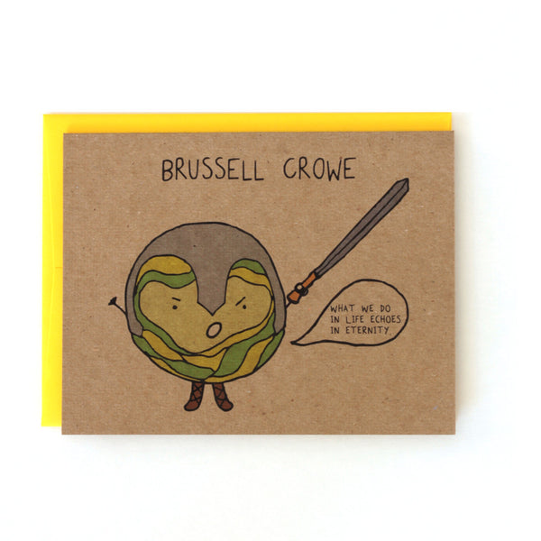 Brussell Crowe Gladiator Card