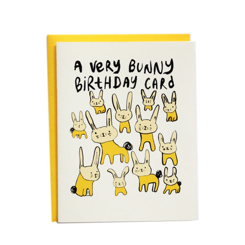 A Very Bunny Birthday Card