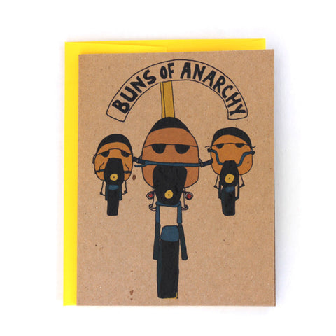 Buns of Anarchy Greeting Card