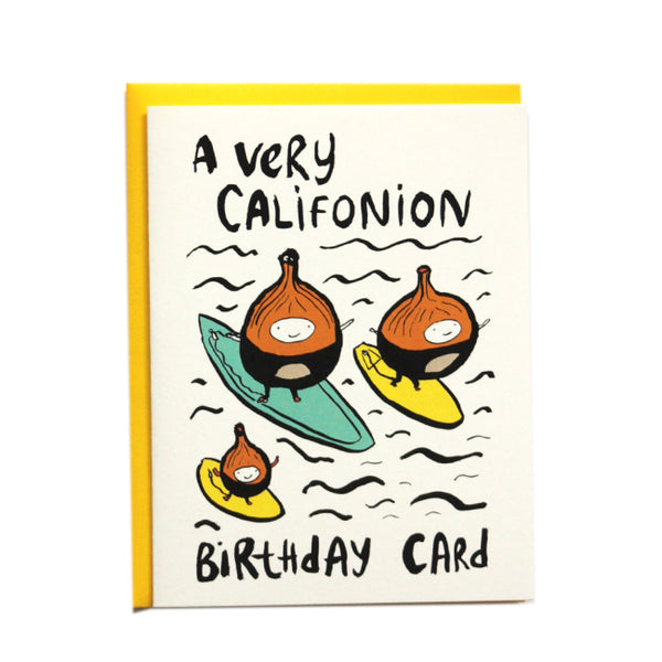 A Very Califonion Birthday Card