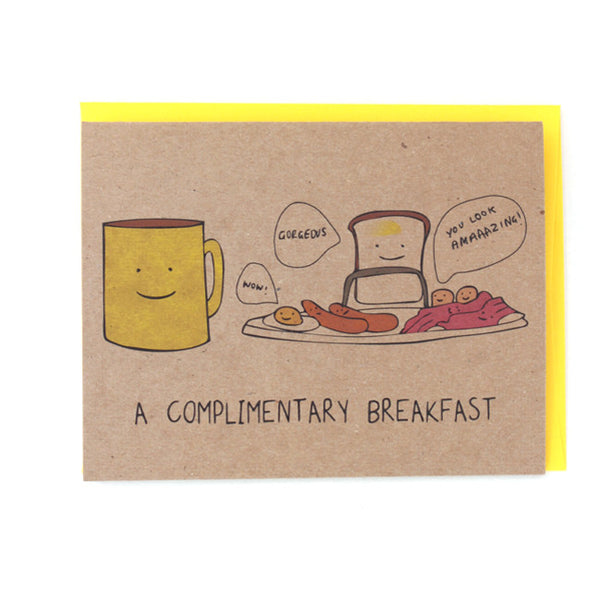 Complimentary Breakfast Card