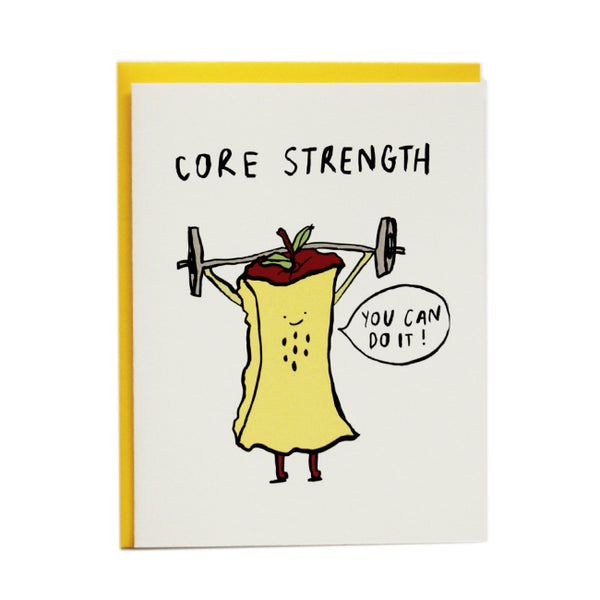 Core Strength greeting card