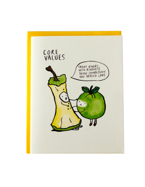 Core Values Greeting Card