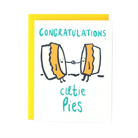 Congrats Cutie Pies Wedding Greeting Card