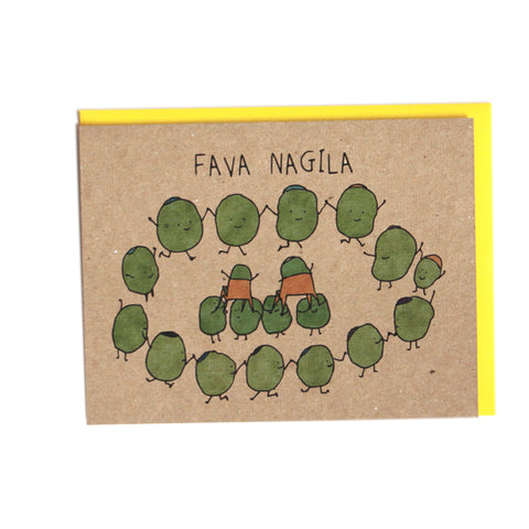 Fava Nagila Jewish Wedding Greeting Card