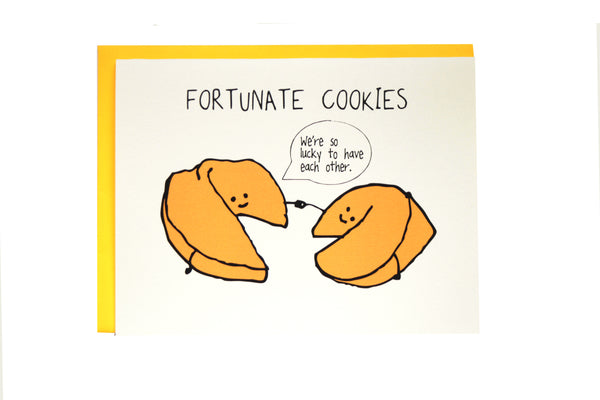 Fortunate Cookies Friends Greeting Card