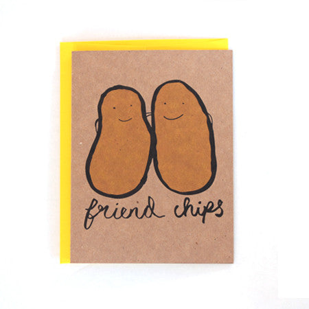 Friend Chips Greeting Card