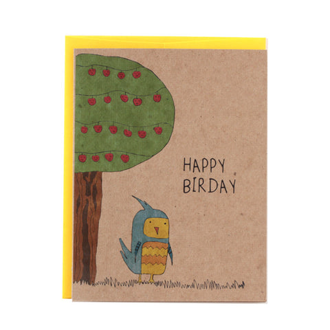 Happy Birthday Bird Greeting Card