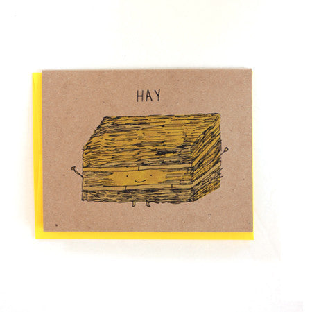 Hay Hey Hello Greeting Card