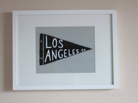 Los Angeles Pennant Art Print, Wall art, Wall Decor (unframed)