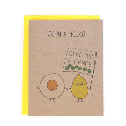 John and Yolko Give Peas a Chance